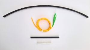 12. Комплект для оконцовки приваркой встык хвостовика патчкорда 3 мм