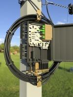 2-3. Подключение дроп-кабеля оконцованного хвостовиком ПК